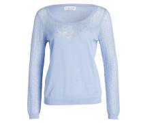 Pullover MIR mit Leinenanteil - hellblau