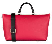 Handtasche BLOGGER - rot/ creme/ schwarz