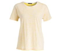 T-Shirt - gelb/ weiss