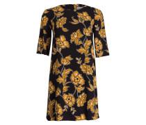 Kleid DONDOLO mit 3/4-Arm - schwarz/ ocker