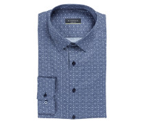 Hemd Super Slim-Fit - marine