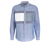 Hemd Regular-Fit - blau/ weiss