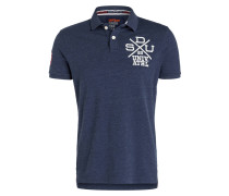 Piqué-Poloshirt COACHES - blau