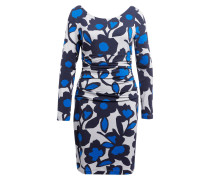 Jerseykleid - blau/ grau