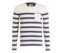 Pullover - beige/ marine gestreift