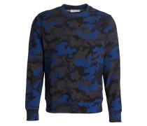 Sweatshirt - blau/ schwarz/ grau