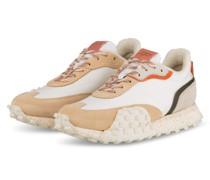 Sneaker CREASE - WEISS/ BEIGE