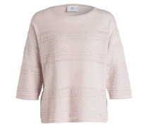 Pullover mit 3/4-Arm - nude