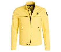 Jacke BLUC im Biker-Stil - gelb
