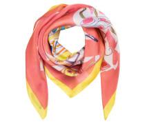 Seidentuch - rosa/ gelb/ lila
