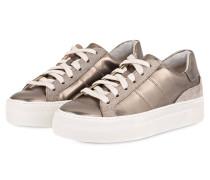 Plateau-Sneaker - taupe metallic