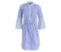 Blusenkleid BOZZANY - weiss/ blau
