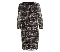 Blusenkleid mit Seidenanteil - schwarz