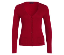 Cashmere-Cardigan - rot