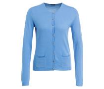 Cashmere-Cardigan - blau