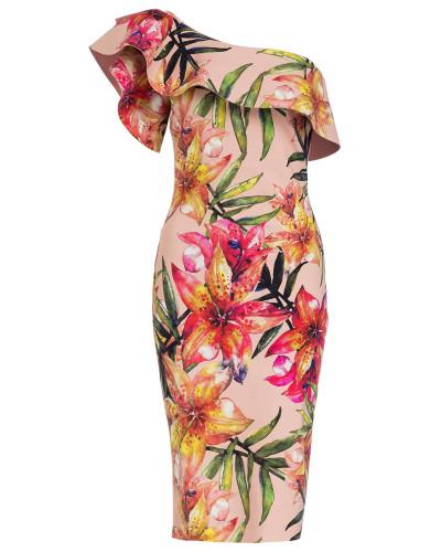 One-Shoulder-Kleid ELISSE
