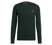Piqué-Pullover - grün