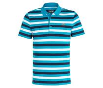 Piqué-Poloshirt - türkis/ navy gestreift