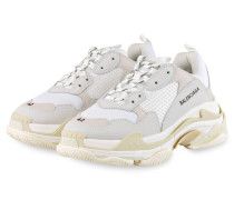Sneaker TRIPLE S - WEISS/ HELLGRAU
