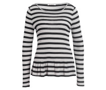 Longsleeve - schwarz/ grau gestreift