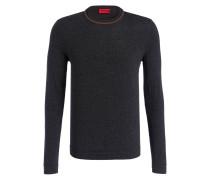 Pullover SABO mit Seidenanteil - grau