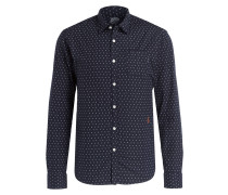 Oxford-Hemd Slim-Fit - navy