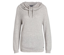 Cashmere-Pullover - hellgrau meliert