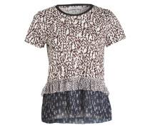 T-Shirt - creme/ braun