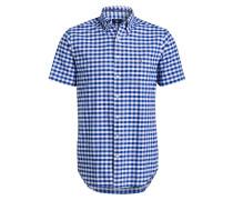 Halbarm-Hemd GINGHAM Regular-Fit - blau