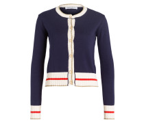 Strickjacke - navy/ beige
