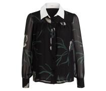 Bluse CHEMISE ROSY - schwarz/ weiss/ grün