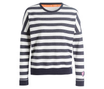 Sweatshirt - marine/ weiss gestreift