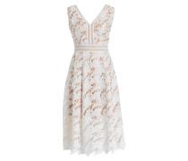 Midi-Kleid LILIAN - weiss/ beige