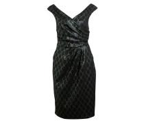 Kleid - schwarz/ grün/ gold
