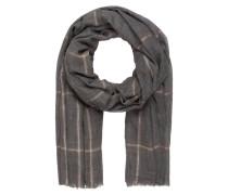Schal mit Cashmere-Anteil - grau/ braun