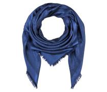 Tuch mit Seidenanteil - dunkelblau