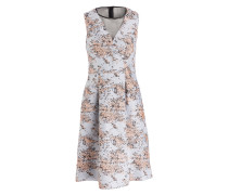 Jacquard-Kleid ELEBETH - silber / apricot