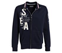 Sweatjacke - navy/ weiss