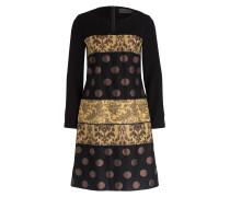 Kleid - schwarz/ gold