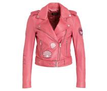 Lederjacke ROSA - pink