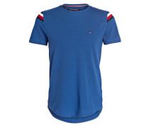 Piqué-Shirt DONNY - blau/ rot/ schwarz
