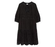 Kleid mit Lochspitze und 3/4-Arm