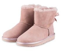 Fell-Boots MINI BAILEY BOW METALLIC - rosé