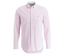 Hemd Slim-Fit - rosa/ weiss gestreift