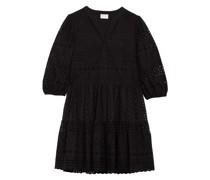 Kleid mit 3/4-Arm und Lochspitze