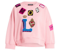 Cropped-Sweatshirt - rosa