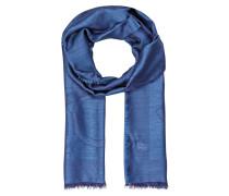 Seide/Cashmere-Schal - blau