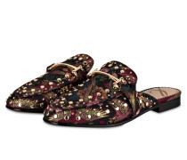 Slipper MARYLIN - schwarz/ bordeaux/ gold