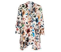 Kleid mit Seidenanteil - ivory/ grün/ navy