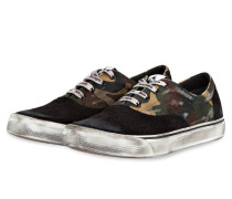 Sneaker - khaki/ braun/ schwarz